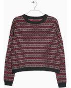 Mango Alpaca Wool-Blend Sweater - Lyst