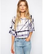 Asos Abstract Check T-Shirt - Lyst