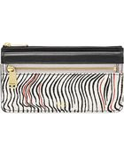 Fossil Preston Printed Leather Flap Clutch Wallet - Lyst