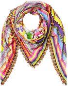 Etro Cotton-Silk Printed Scarf - Lyst