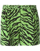 Moschino Cheap & Chic Animal Print Shorts - Lyst