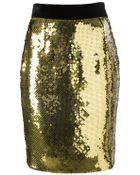 Moschino Sequined Pencil Skirt - Lyst