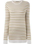 T By Alexander Wang Striped Knit Top - Lyst