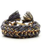 Aurelie Bidermann Do Brasil Goldplated and Braided Bracelet - Lyst