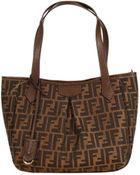 Fendi Handbag Zucca Shopping With Zip Small 25X35X17 Cm - Lyst