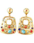 Jose & Maria Barrera Hammered Cabochon Clip Earrings - Lyst