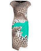 Roberto Cavalli Printed Crepe Dress - Lyst