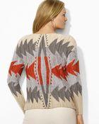 Ralph Lauren Lauren Plus Intarsia Knit Sweater - Lyst
