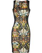 Just Cavalli Printed Satin Dress - Lyst