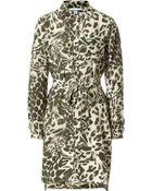 Diane von Furstenberg Silk Leopard Print Shirtdress - Lyst