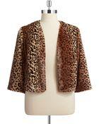 Marina Plus Faux Fur Leopard Print Jacket - Lyst