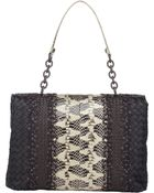 Bottega Veneta Cross-Stitched Patchwork Olimpia Shoulder Bag - Lyst