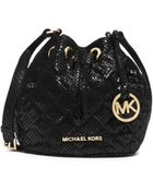 Michael Kors Jules Quilted Patent-Leather Crossbody - Lyst