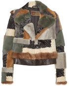 Etro Patchwork Fur Cropped Jacket - Lyst