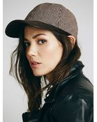 Free People Womens It Suits You Tweed Baseball Cap - Lyst