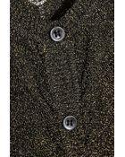 M Missoni Metallic Stretch Crochet-Knit Cardigan - Lyst