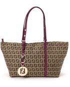 Fendi Brown Tote Bag - Lyst