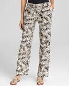 Vince Camuto Wide-Leg Leopard-Print Pants - Lyst