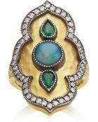 Arman Sarkisyan Tsavorite and Opal Ring - Lyst