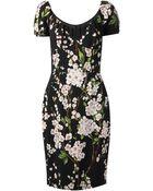 Dolce & Gabbana Pink Floral Dress - Lyst
