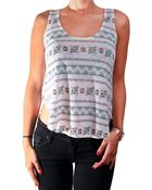 Chaser Printed Sleeveless Top - Lyst