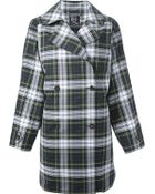 McQ by Alexander McQueen Double Breasted Tartan Coat - Lyst