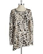 Vince Camuto Leopard Print Sweater - Lyst