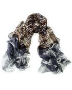 Black.co.uk Brown Leopard Print Cashmere Scarf - Lyst