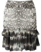 Roberto Cavalli Python Print Skirt - Lyst
