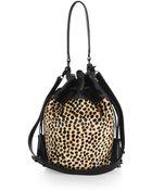 Loeffler Randall Industry Calf Hair Bucket Bag - Lyst