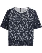 Carven Lace Top - Lyst