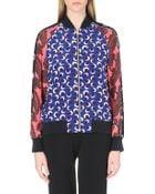 Stella McCartney Silk Bomber Jacket - Lyst
