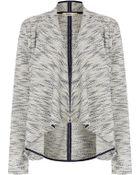 Oasis Tweed Waterfall Jacket - Lyst