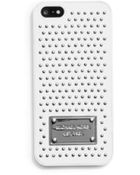 Michael Kors Micro-Stud Saffiano Phone Case For Iphone 5 - Lyst