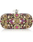 Marchesa Lily Swarovski Crystal-Embellished Mesh Box Clutch - Lyst