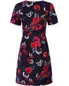 Oasis Fusion Rose Jacquard Dress - Lyst