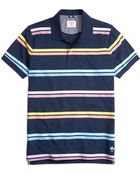 Brooks Brothers Two-Color Bar Stripe Polo Shirt - Lyst