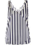 Thakoon Addition Striped Silk Top - Lyst