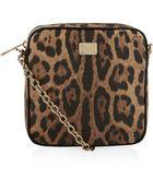 Dolce & Gabbana Leopard Print Crossbody Bag - Lyst