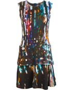 McQ by Alexander McQueen 'Blurry Lights' Print Flared Dress - Lyst