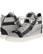 Giuseppe Zanotti High-top Silver Sneakers - Lyst