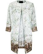 Les Copains Floral Blur Print Coat - Lyst