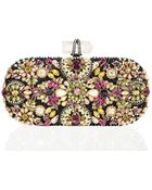 Marchesa Lily Crystal Embroidered Clutch - Lyst