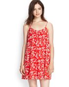 Love 21 Floral Cami Shift Dress - Lyst