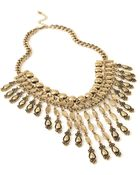 Forever 21 Layered Geo Fringe Necklace - Lyst