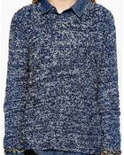 By Zoé Textured Jumper In Mixed Yarn - Lyst