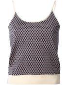 Maison Margiela Pattern Knit Tank Top - Lyst