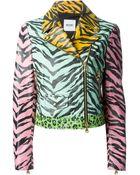 Moschino Cheap & Chic Animal-Print Biker Jacket - Lyst