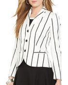 Ralph Lauren Lauren Vertical Stripe Blazer - Lyst