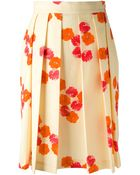 Andrea Incontri Pleated Skirt - Lyst